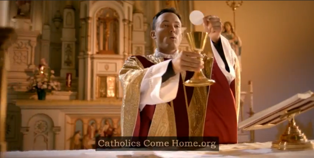 Screenshot from Catholics Come Home ad campaign